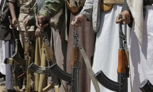 Armed Houthi rebels