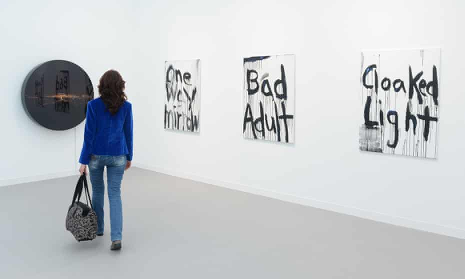 Kim Gordon's artwork on display at the London Frieze art fair, 2014.