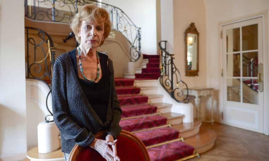 Edna O'Brien, pictured in Paris receiving the Prix Femina special in 2019.
