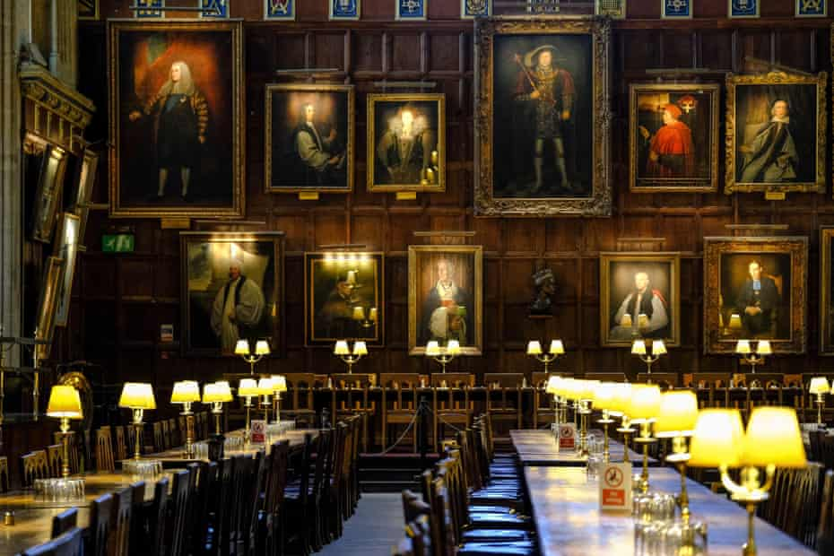 The hall at Christ Church college in Oxford seats up to 300 people and was the inspiration for Hogwart's Hall in Harry Potter