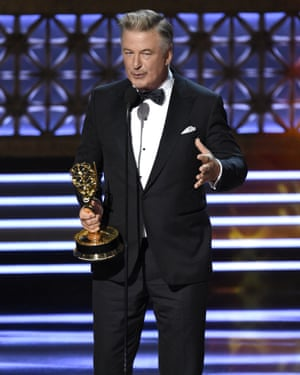Alec Baldwin accepts the award for outstanding supporting actor in a comedy series