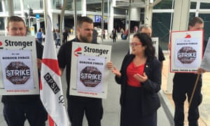 CPSU national secretary Nadine Flood at Sydney Airport, Sunday, Nov. 8, 2015.