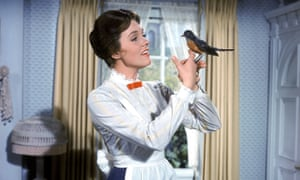Julie Andrews as Mary Poppins.