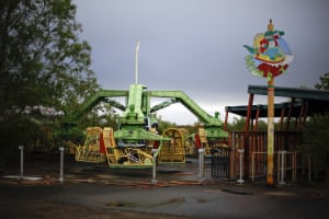 Many of the rides are still in place