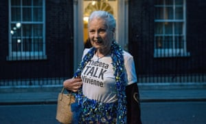 Vivienne Westwood arrives at Downing St for 'a celebration of British fashion', hosted by Theresa May.