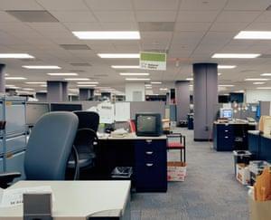 Inside the former Washington Post newsroom, Washington DC, US, 2014