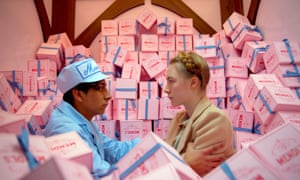 Grand Budapest Hotel – one of three Wes Anderson films featured on the list – reached 21.