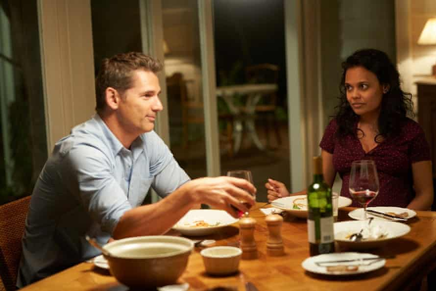 Eric Bana and Miranda Tapsell in the Dry.