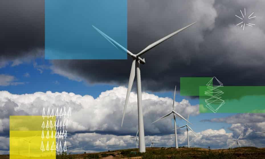 Whitelee, the UK's largest onshore wind farm, in east Ayrshire and south Lanarkshire.