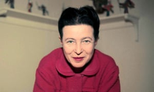 Simone de Beauvoir at home.