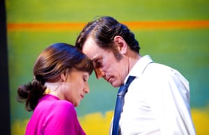 Betrayal Kristin Scott Thomas (Emma) and Ben Miles (Robert) directed by Ian Rickson. Comedy Theatre, 2011