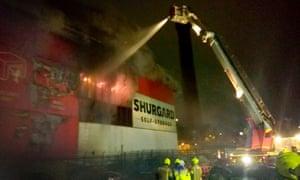 Fire at a Shurgard self-storage unit on Purley Way, Croydon.