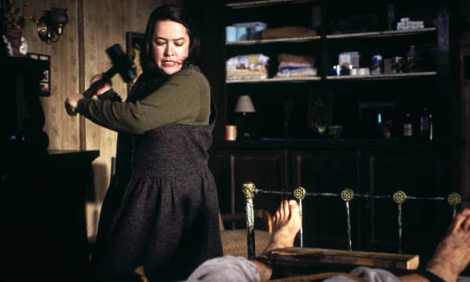 Kathy Bates and James Caan in Misery.