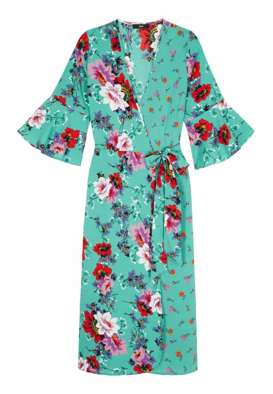 Floral Wrap Dress, £40, Find, amazon.co.uk