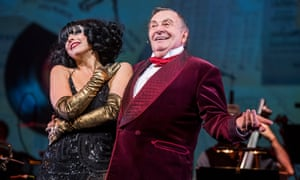 Barry Humphries with Meow Meow at the Barbican.