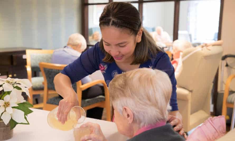 Joan Lagman, a caregiver at Rymans in Wellington