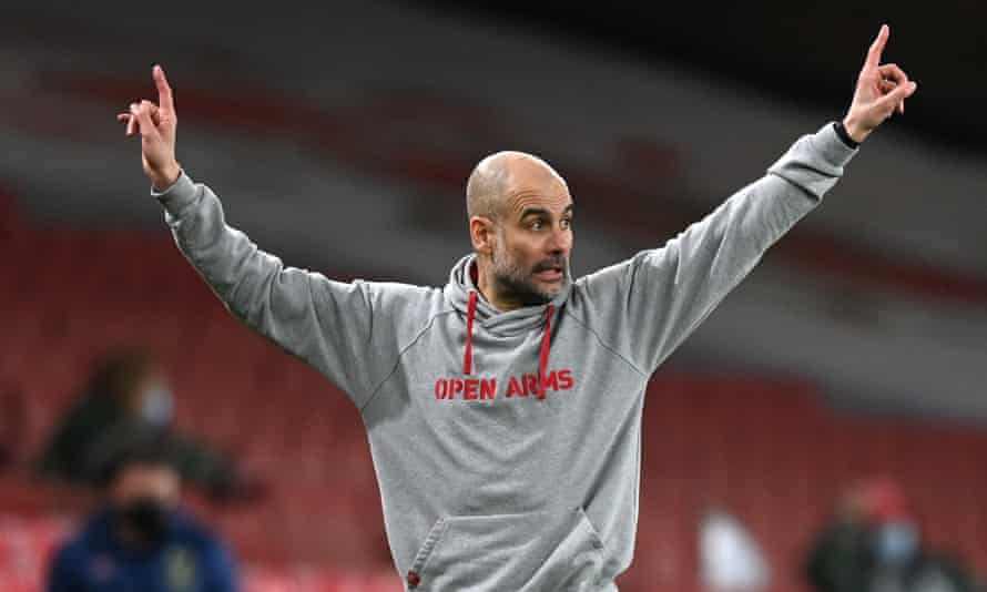 Pep Guardiola has taken City to the top of the table.