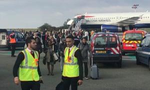 British Airways plane at Charles de Gaulle airport in Paris