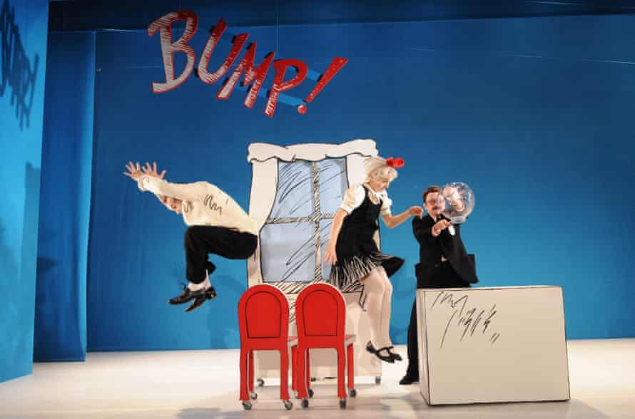 Mark Arends (The Boy), Helena Lymbery (Sally) and Justin Salinger (Fish in the Bowl) in The Cat in the Hat.