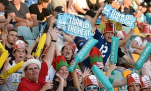 Game night: fans pack into the Gabba in Brisbane for the opening game between Brisbane Heat and the Melbourne Renegades.