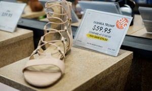 Ivanka Trump branded shoes at a DSW shoe store in New York City.