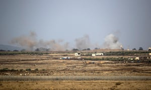 Air strikes on the Syrian side of the Golan Heights