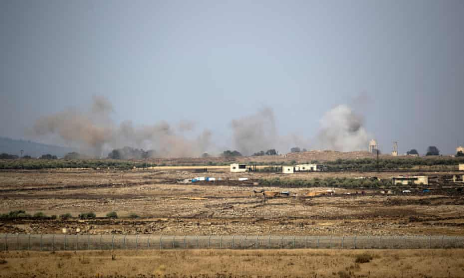 Air strikes on the Syrian side of the Golan Heights last July