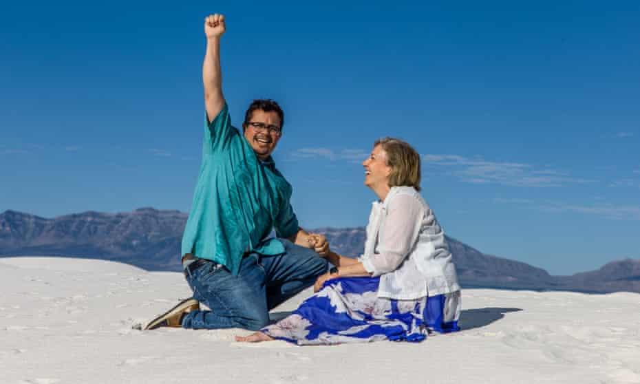 Jennifer Clymer and Edgar Pablos getting engaged.