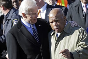 Joe Biden and John Lewis in Selma, Alabama, in 2013.