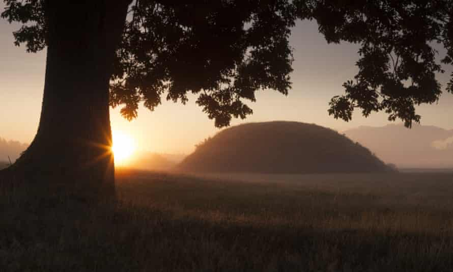 Savage splendour … the burial mounds at Sutton Hoo.