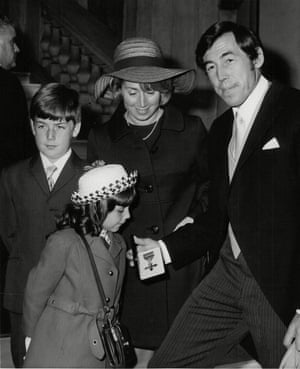 Gordon Banks with his wife Ursula and children Robert and Wendy after receiving an OBE in July 1970
