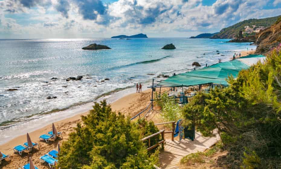 Aigues Blanques or Aguas Blancas beach, Ibiza,