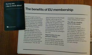 Jenny Owen paired up Cards Against Humanity with the government's pro-EU leaflet, and the results were very funny.