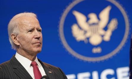 Joe Biden speaks in Wilmington, Delaware, on 19 November.