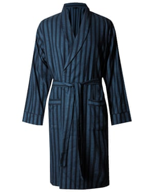 Striped dressing gown, £29.50 marksandspencer.com