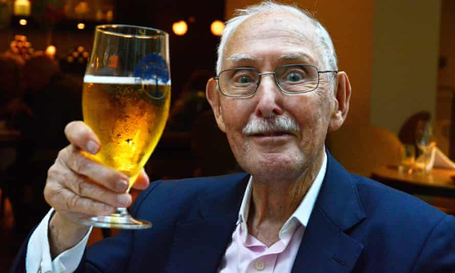 Cheers: pensioners lead healthier lives than those still in work.
