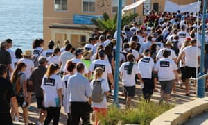The fifth annual white ribbon walk to raise awareness about domestic violence reaches Coogee on Wednesday as study finds media often sensationalise their reports.