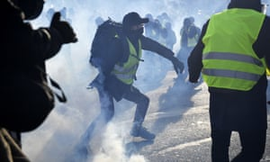 Protesters riot in Paris during the 14th consecutive gilets jaunes demonstration across France.