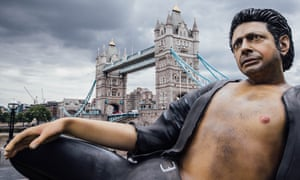Jeff Goldblum gets comfortable at Tower Bridge.