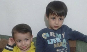 Aylan Kurdi and his brother Galip in photo provided by the Kurdi family.