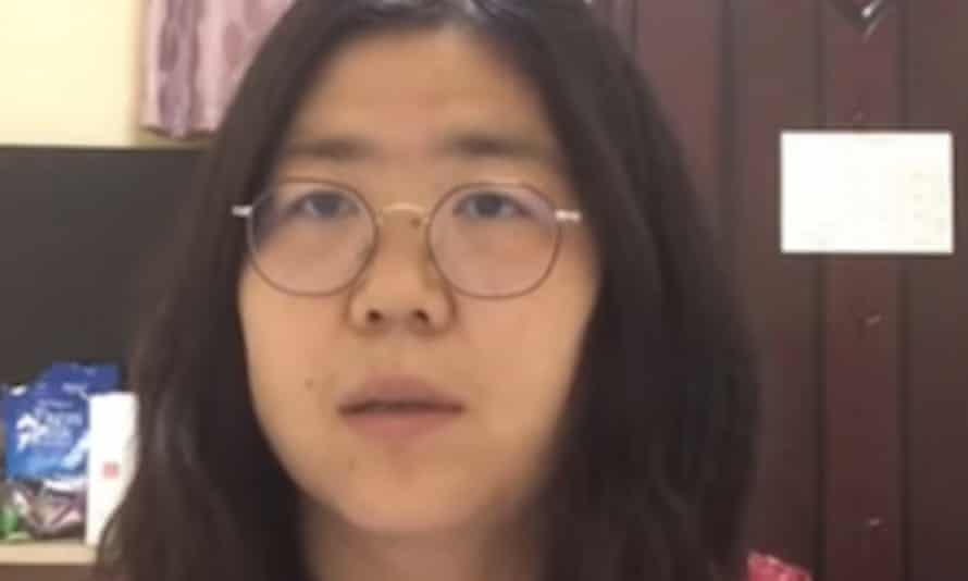 Zhang Zhan, who was detained in China over her reporting in Wuhan