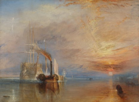 A pale ghost ship pulled by a brassy steamboat … The Fighting Temeraire.