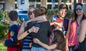 Students reunited with parents after the shooting.