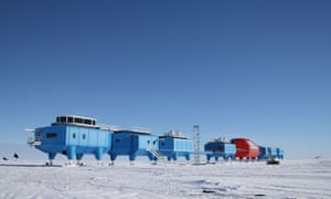 The Halley VI research centre on a floating ice shelf in Antarctica