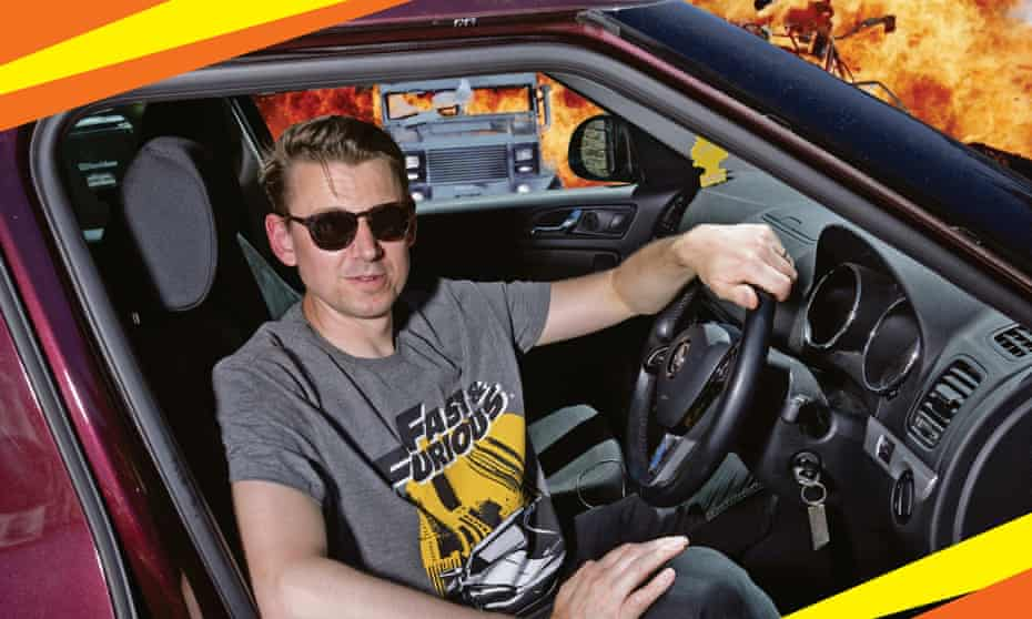 Pedal to the metal … Tim Jonze gets behind the wheel for his Fast & Furious epic.
