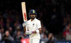 India's captain Virat Kohli bats at Lord's