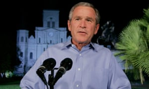 President George W Bush speaks to the nation, from New Orleans in September 2005.