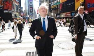 Boris Johnson in Times Square