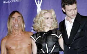 2008: Being inducted into the Rock'n'Roll Hall of Fame is a big deal which is why Iggy Pop is taking it so seriously