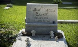 JonBenét's tombstone.